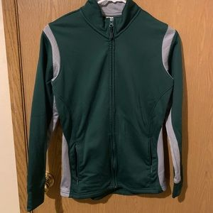 Jackets & Blazers - Green & Grey Zip-up Jacket